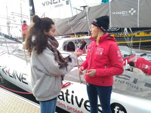 Jade en interview avec Sam Davies d'Initiatives Coeur